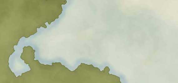 Drawing The Sea and Coastline For Your Own Map