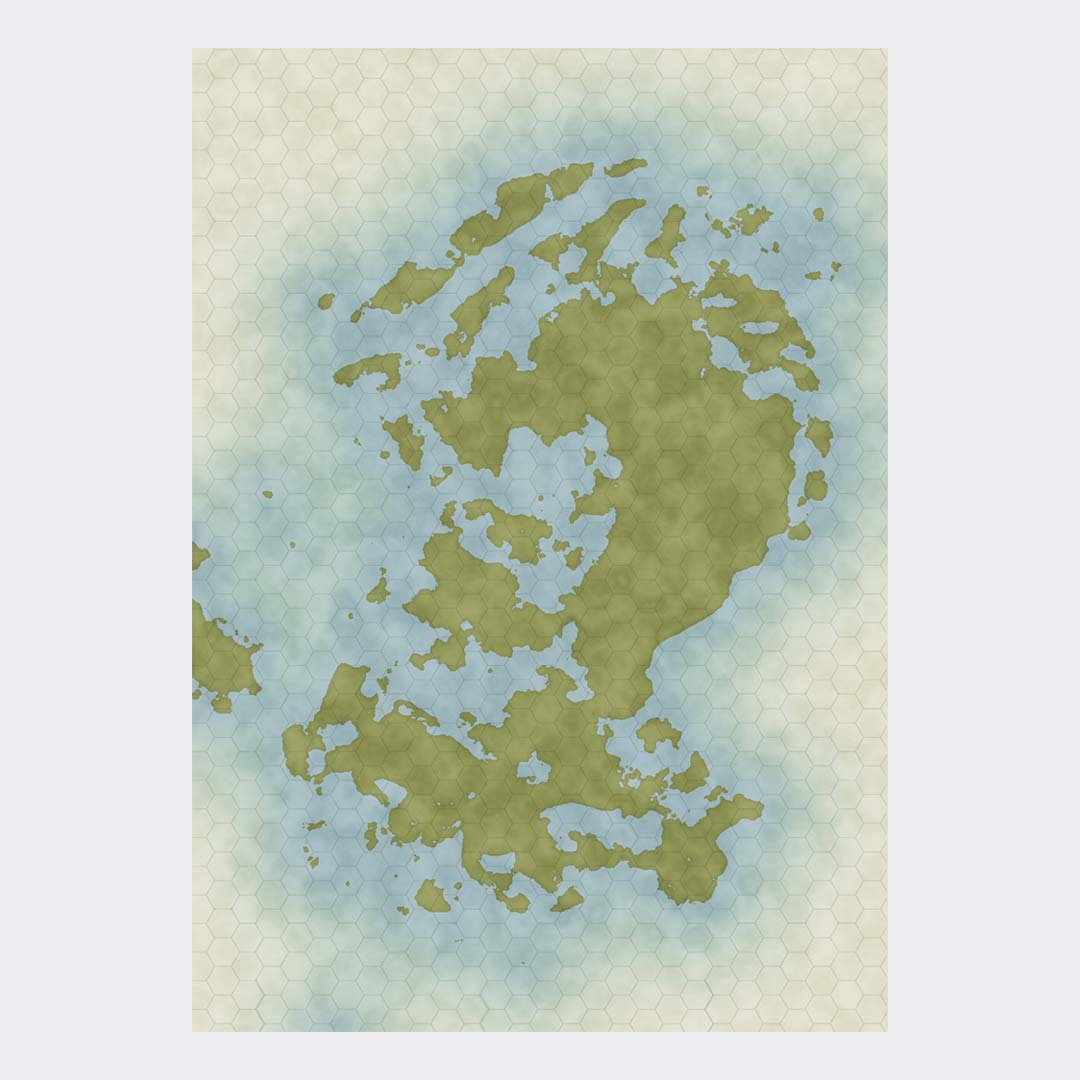 Vancano fantasy world map