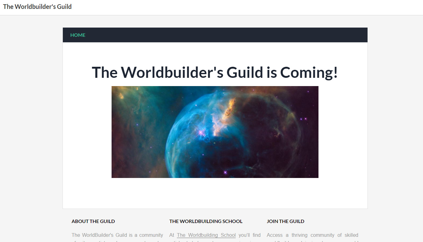 The Worldbuilder's Guild is coming – a sneak peek.